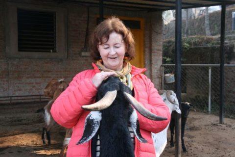 Samten with new friend, Beth