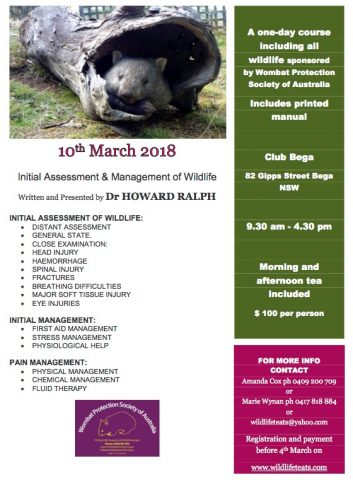 Training for Wildlife Carers